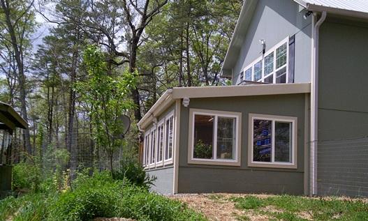 Secret Greenhouse of Survival on above ground survivalist compound design, military compound design, self-sufficient compound design, prepper compound design,
